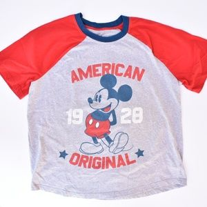 Mickey Mouse American Original Red Grey Tee
